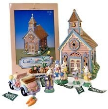 Cottontail Lane Midwest Cannon Falls Bunny Chapel With 6 Accessories Vintage New