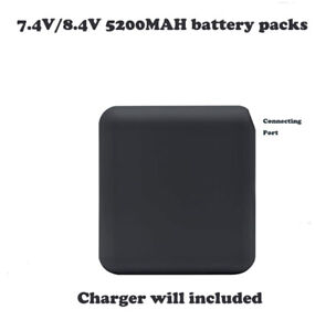 battery pack 7.4V/8.4V 5200MAH for ororo heated jacket (charger include)
