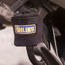 Small Black Ohlins Brake Clutch Reservoir Sock Cover Motorcycle Bike Sweat Band