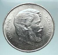 1946 HUNGARY Franz Joseph I & Lajos Kossuth Antique Silver 5 Forint Coin i81643