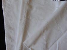 VINTAGE Bianco Cotone Ricamo Anglais Ricamato Federa Europeo 76.5X72