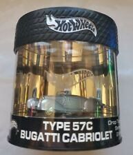 Hot Wheels Oil Can Drop Top Series Type 57C Bugatti Cabriolet - Silver 1 of 7000
