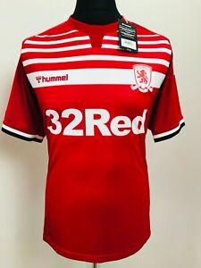 Middlesbrough FC Football Shirt Home Soccer Jersey 2019/20   Hummel Size Large
