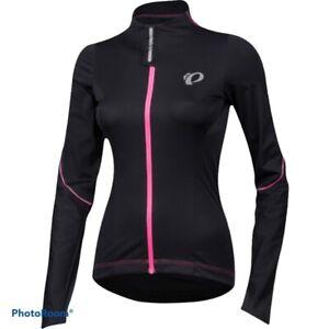 Pearl Izumi Women's M Elite Barrier Black & Pink Convertible Cycling Jacket Euc