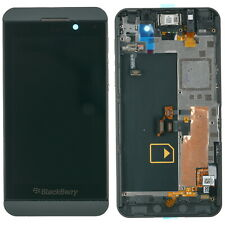 Original Blackberry Z10 Display LCD Touchscreen Glas + Rahmen schwarz