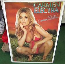 CARMEN ELECTRA VINTAGE POSTER PLAYBOY SUPER MODEL HOT RARE OOPS 2010
