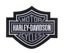 Harley Davidson Aufnäher/Patch Modell B&S silber Größe ca. 23,5 x 19,5 cm
