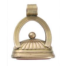 "Georgian 12K Gold and Carnelian ""Sophia"" Fob Seal Pendant"