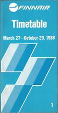 Finnair system timetable 3/27/88 [6103]
