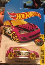 Volkswagen Golf MK7 #111 Pink 2017 Hot Wheels Case E 6/10