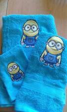 ensemble neuf drap de bain + serviette  + gant de toillette mignon (broderie)