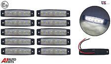 30:6 LED Lateral Trasero Delantero Marcador Blanco Claro LUCES PARA EL CARRO Man
