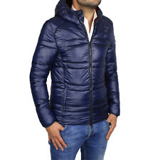 Giubbotto Uomo Invernale Giacca Piumino Blu Giubbino Moto Casual Slim Fit