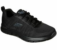 Wide Width Skechers Black Shoes Men Memory Foam Mesh Sport Comfort Casual 232081