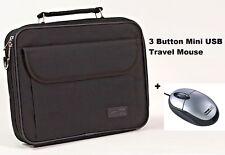 "Dicota Classic Laptop Case Netbook Shoulder Bag 12.1"" Black + Mini USB Mouse"