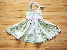 Icky Baby Toddler Boutique Dress Summer Green Asian Print Size 2T Cotton