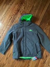 The Northface Men's Inlux Insulated Jacket Asphalt Grey/Green Heather CKY203B XL