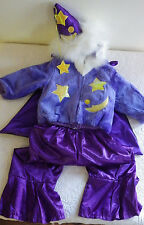 4T Purple Wizard Witch Halloween Costume 2 Piece Outfit Size 4T New Purple Hood