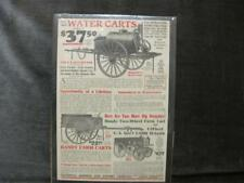 Vintage Government Surplus AD Water Cart, Hand Card & Farm Wagon 1920 ORIG