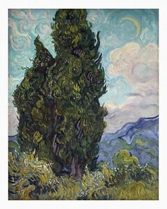 VAN GOGH Cypresses UNSTRECHED UNFRAMED CANVAS