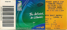 Nouvelle-Zélande/Italie 11 OCT 2003 Melbourne coupe du monde de rugby billet