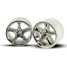 "Traxxas TRA2472 Chrome Tracer Wheels (2) 2.2"": Rear Bandit VXL XL-5 XL5"