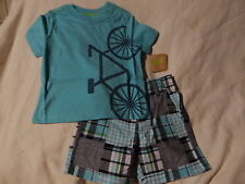 NWT 12-18 CRAZY 8 by GYMBOREE IN FULL SPRING TOP & SHORTS