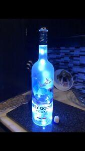 1.75 Liter Grey Goose Vodka Bottle LED Light Mancave