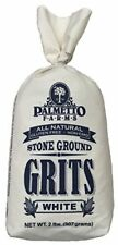 Palmetto Farms White Stone Ground Grits 2 LB  Non GMO Just All Natural Corn No
