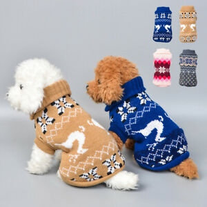 Cute Pet Dog Cat Warm Jumper Sweater Clothes Puppy Knitted Coat Jacket Supplies