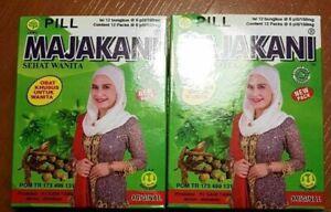 4 BOXES (12 x 6 Pills/Packet) PILLS MANJAKANI OAK GALL FOR WOMEN HEALTHY LIVING