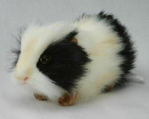 "NEW w/ Tag - Guinea Pig Black & White Plush Stuffed Animal 8"" by Hansa Toys 4592"
