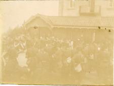 France, Militaires et l'orchestre ca.1898 vintage citrate print Vintage cit
