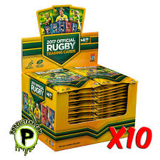 RUGBY UNION - 2017 Official Tap 'N' Play Trading Cards Box ~ Sealed Case (10ct)