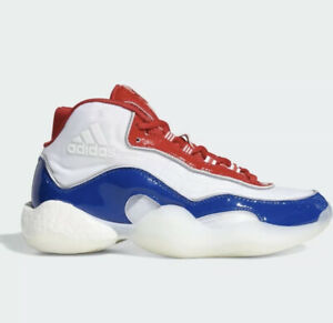 Adidas Crazy BYW Icon 98 Scarlet White Royal EE6879 Men's Size 8.5 USA Shoes