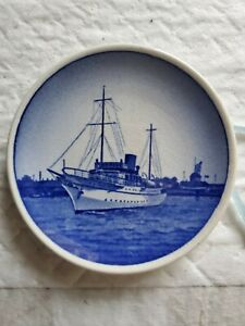 Butter Pat made in Denmark Features a Ship