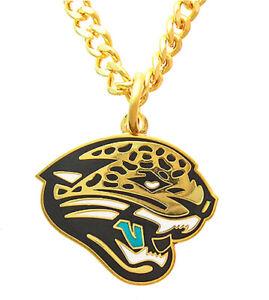 Jacksonville Jaguars NFL Peter David Golden Necklace & Pendant