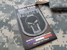 """SNAKE PATCH """" FRANCE PUNISHER """" URBAN BV GRIS OPEX ARMEE commando SCRATCH"""