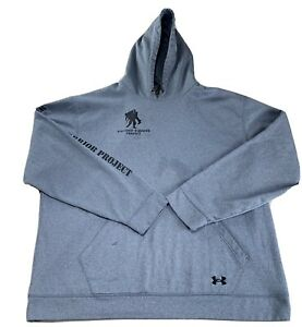 Under Armour Hoodie; Wounded Warrior Project, Size: XXL Color: Light Gray