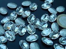 5 cabochon, di cristallo ovale 14 x 10mm