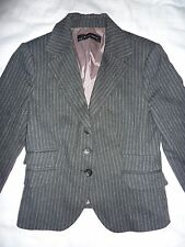 Zara basic size S, small black grey blazer, jacket, pin stripe