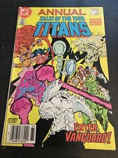 Tales Of Teen Titans Annual#4 Incredible Condition 9.2(1986) 1st Vanguard App