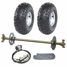 Rear Axle Shaft Kit ,145/70-6 Wheel Tires Rim, Brake Hydraulic Trike Drift Bike