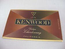 Wine Label: KENWOOD 1999 Chardonnay Yulupa California
