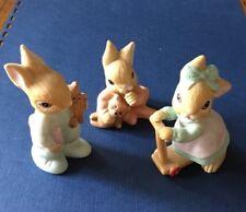 Easter Bunny Rabbit Babes Set 3 Baby 'Bunnykin' Figurine Figure Homco