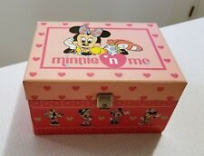 Vintage Minnie N Me Musical Jewelry Box & Girls Jewelry Lot 925 Ring  Free S&H