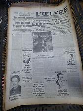 journal l'oeuvre - n° 8307 - 30 juin 1938 - la vie de briand - suzanne lenglen -