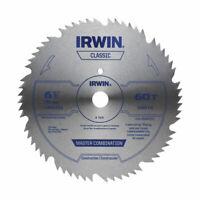Irwin  6-1/2 in. Dia. x 5/8 in.  Steel  Classic  Circular Saw Blade  60 teeth