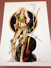 Jim Silke Signed Print Huntress Archer Pinup Art