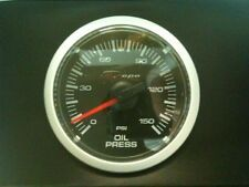 Depo Racing 52mm Black Face Clear Oil Pressure Gauge